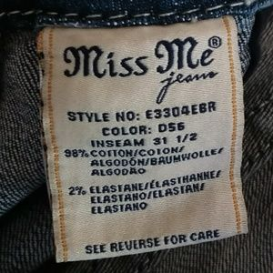 Miss Me Jeans - Miss Me   Blue Mid-Rise Easy Boot Sz 30